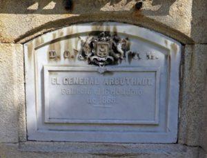 Nicho del Mariscal Jaime de Arbuthnot (1791-1863)
