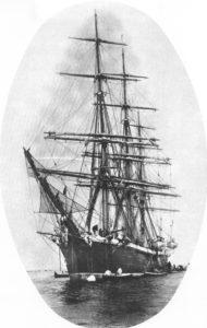 La corbeta Nautilus, desguazada en Ferrol en 1932. Gran ocasión perdida de haberla convertido en museo flotante. En ella Villaamil realizó su circumvalación a la Tierra en el 93.