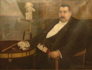 Retrato de Picadillo de Manuel Abelenda zapata, 1915, colgado en la Galería de Alcaldes de María Pita.